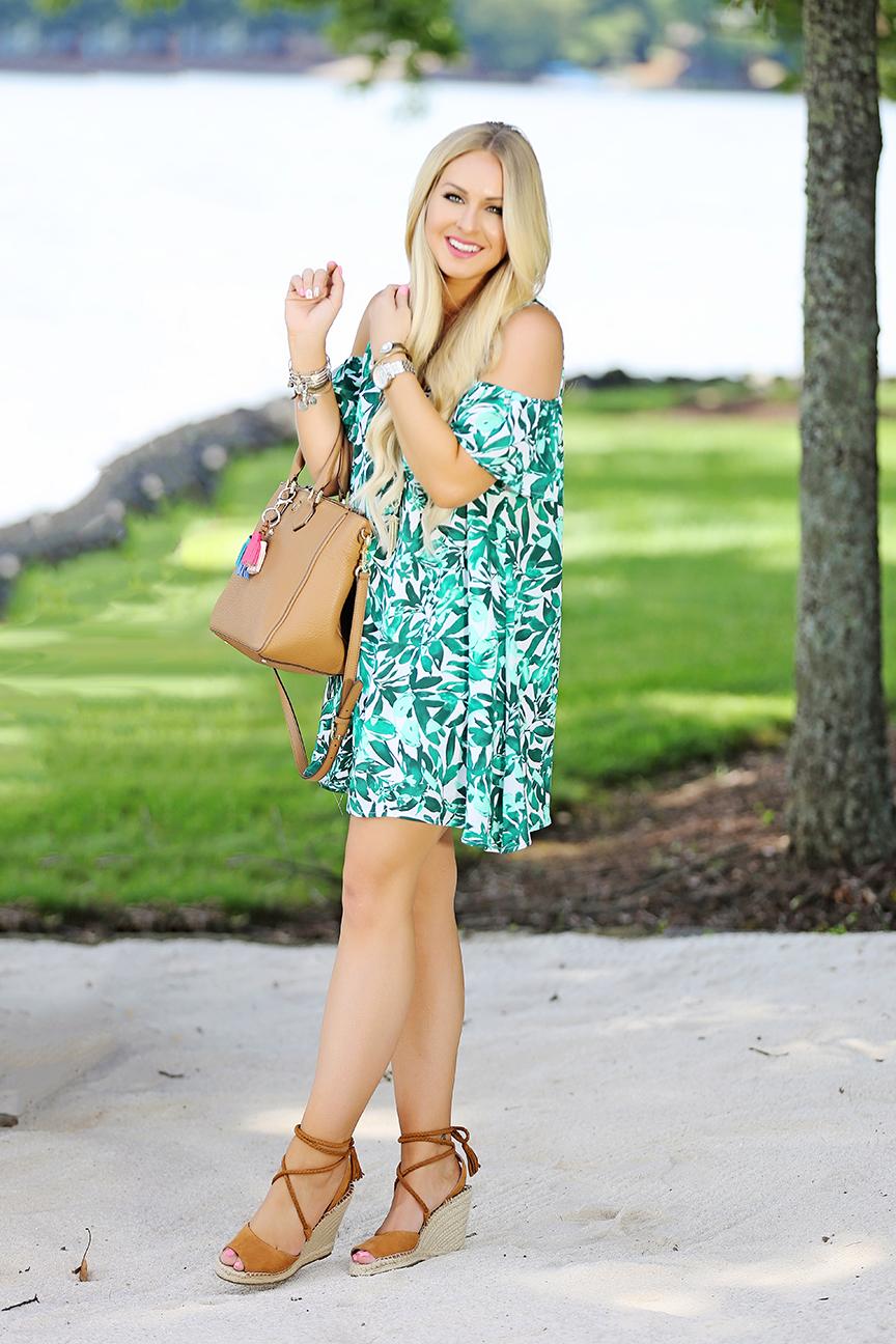 Leaf Print Dress 5