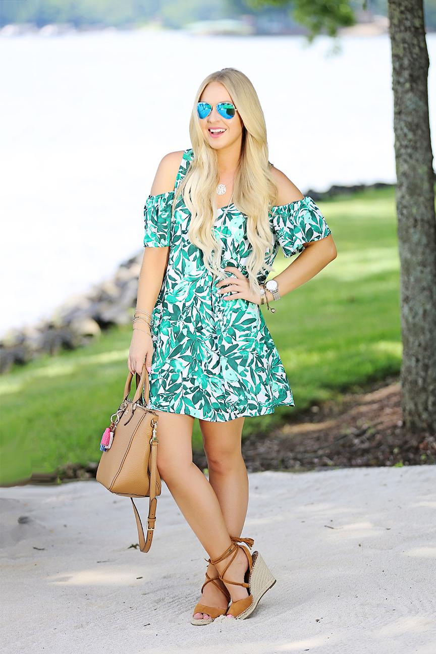 Leaf Print Dress 7
