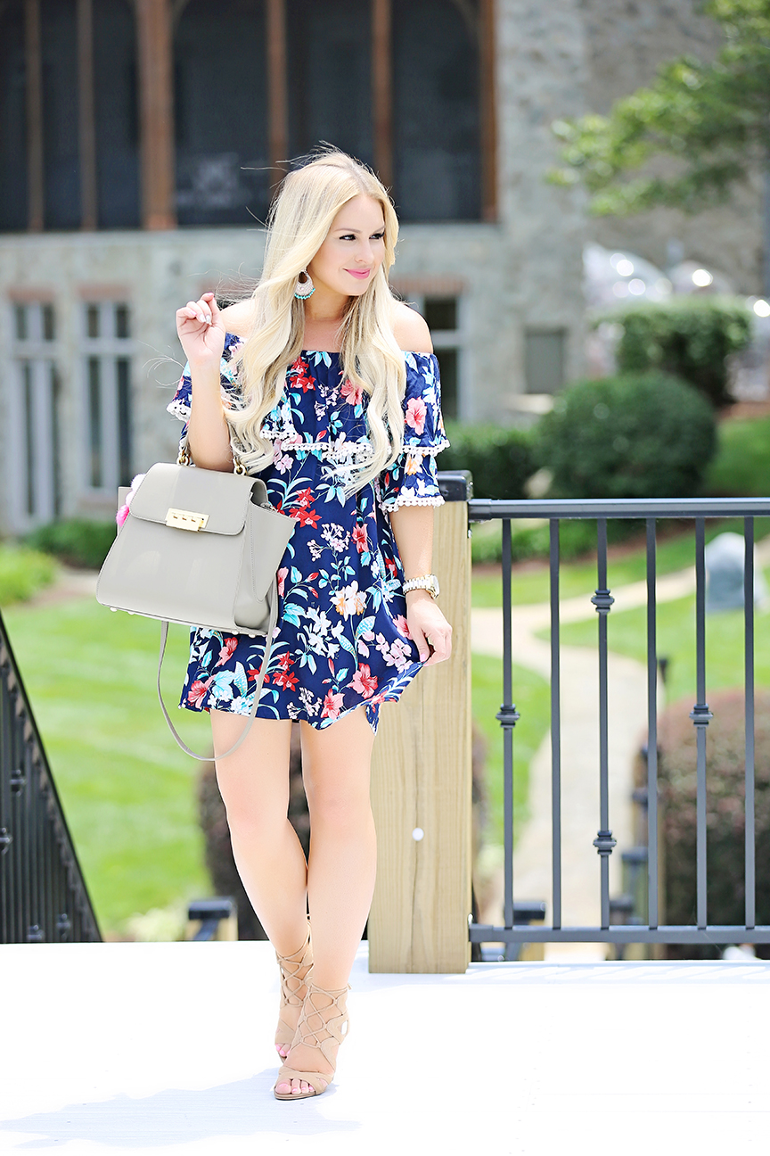 Tropical Print Dress 4