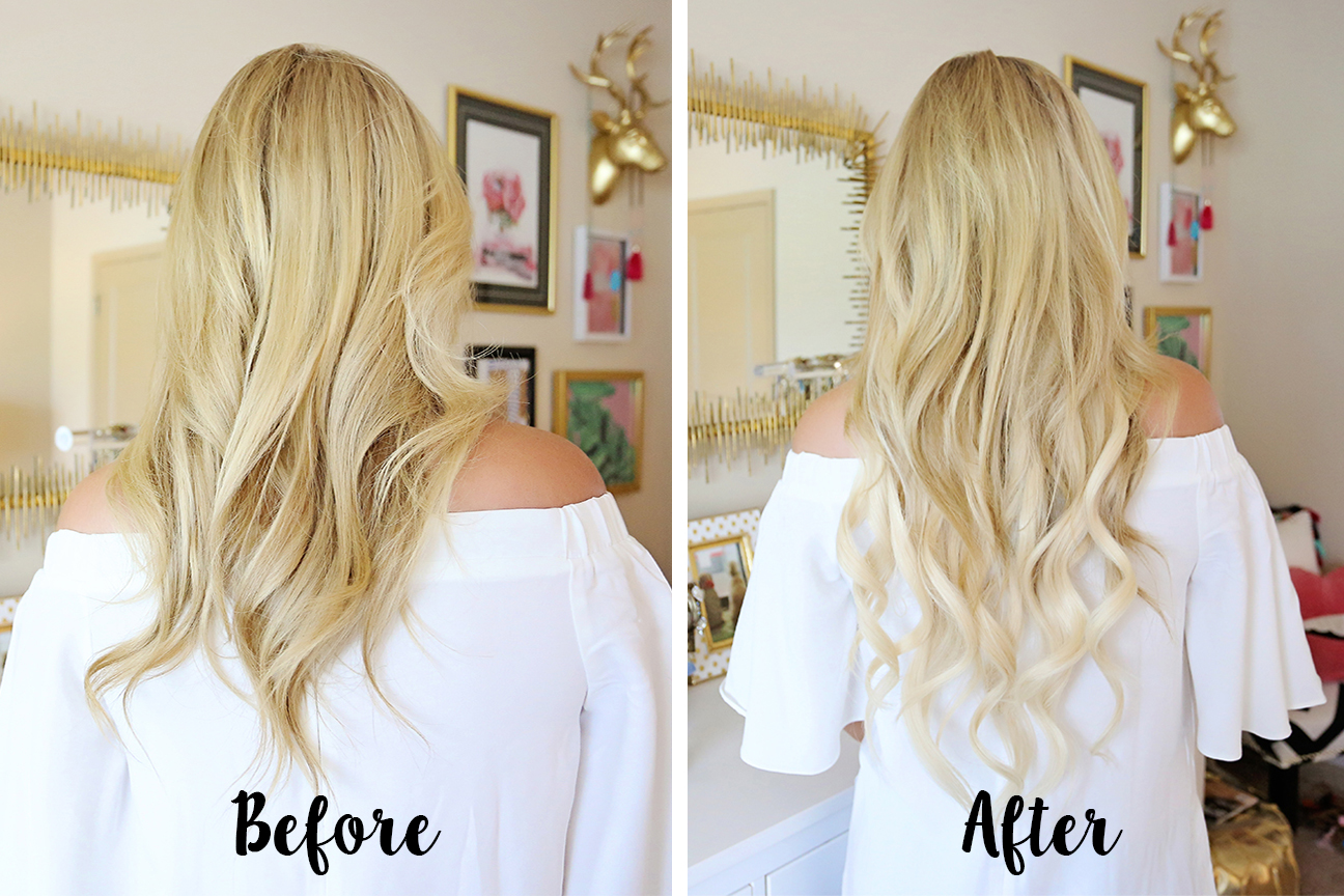before and after bellami hair extensions