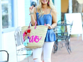 Chambray Peplum 4