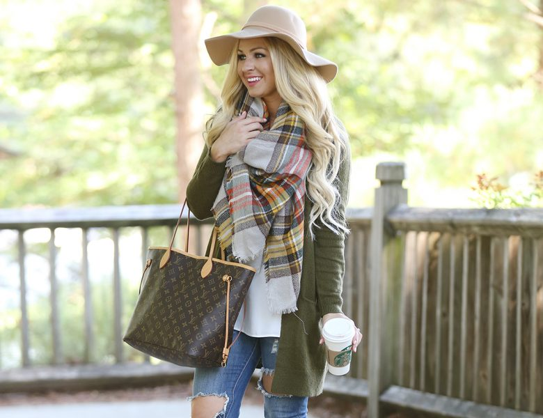 blanket-scarf-and-olive-cardigan-1