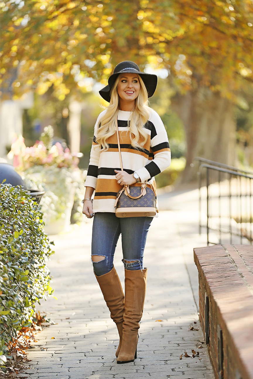 striped-sweater-sam-edelman-boots-louis-vuitton-alma-bb-4