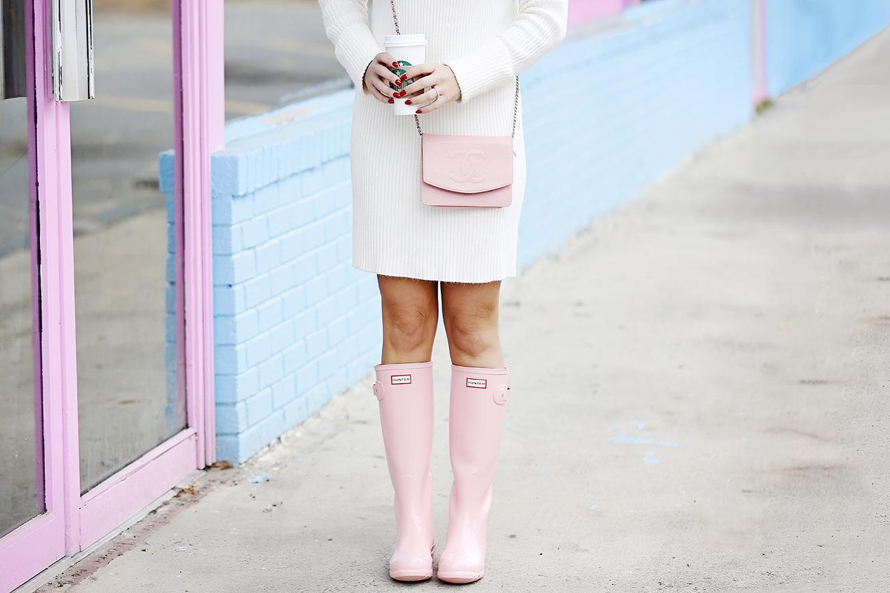 Pink Hunter Rain Boots 2