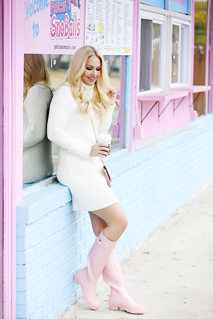 Pink Hunter Rainboots Outfit