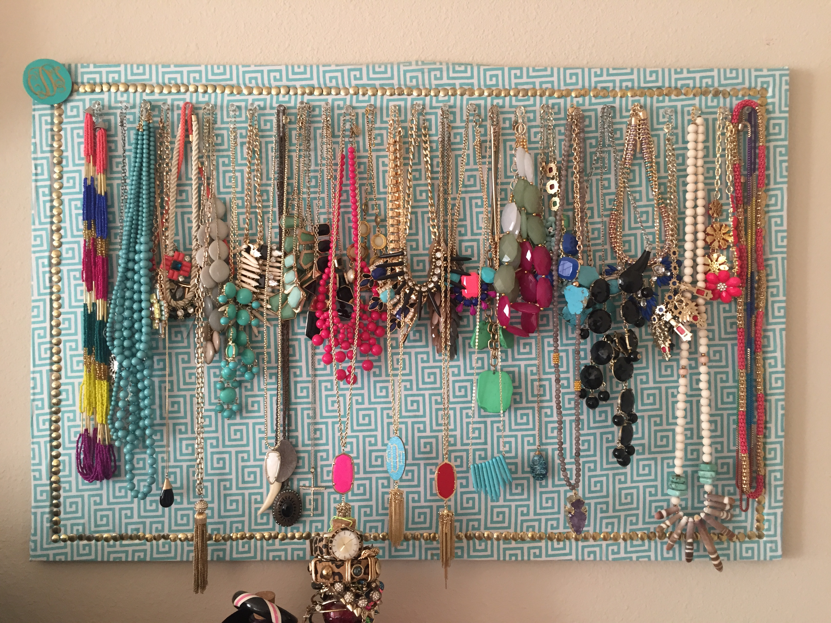 How To FabricCovered Corkboard Jewelry Organizer Cort In Session