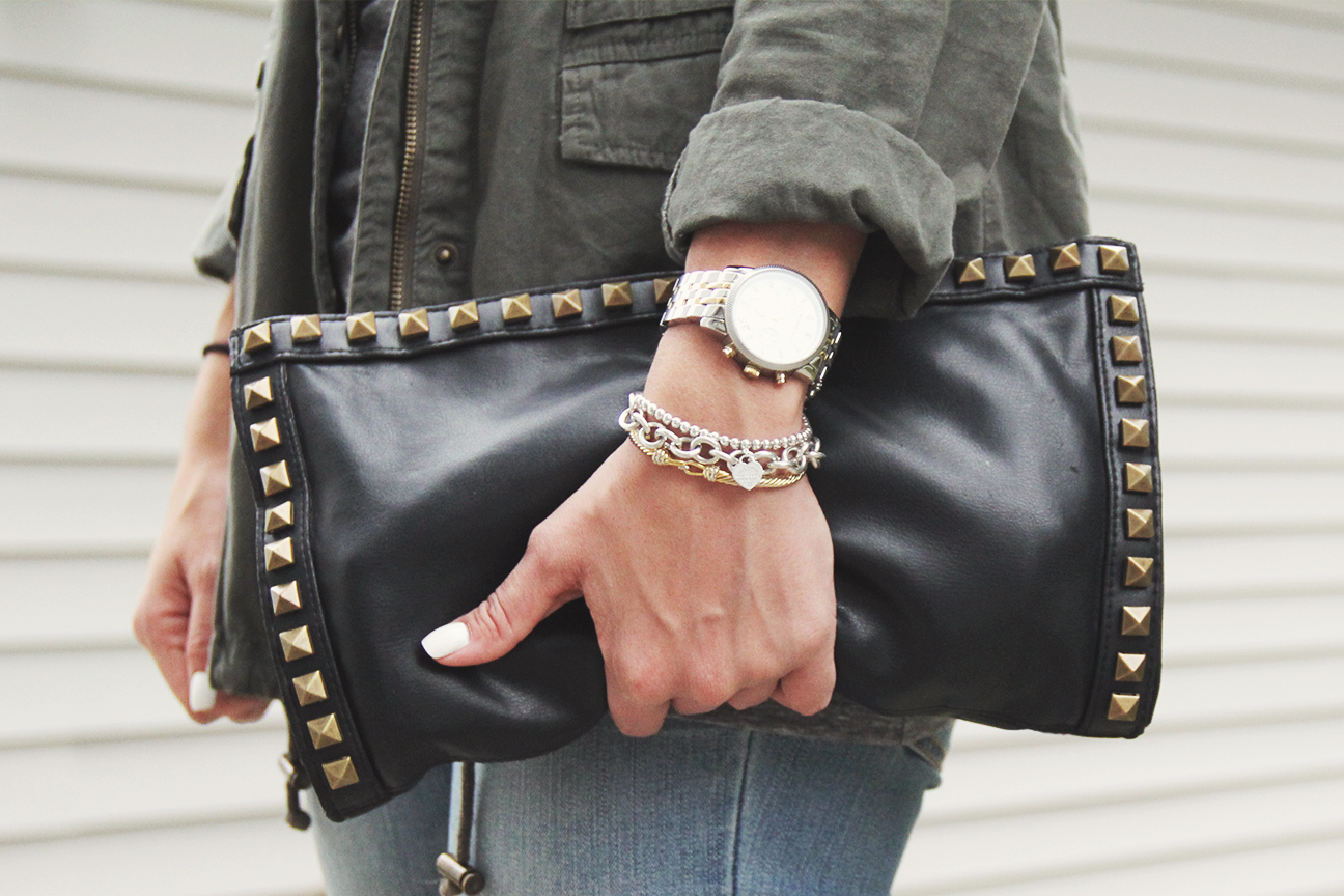 DIY Valentino-Inspired Studded Leather Clutch - Cort In Session 5fe1c144d28b0