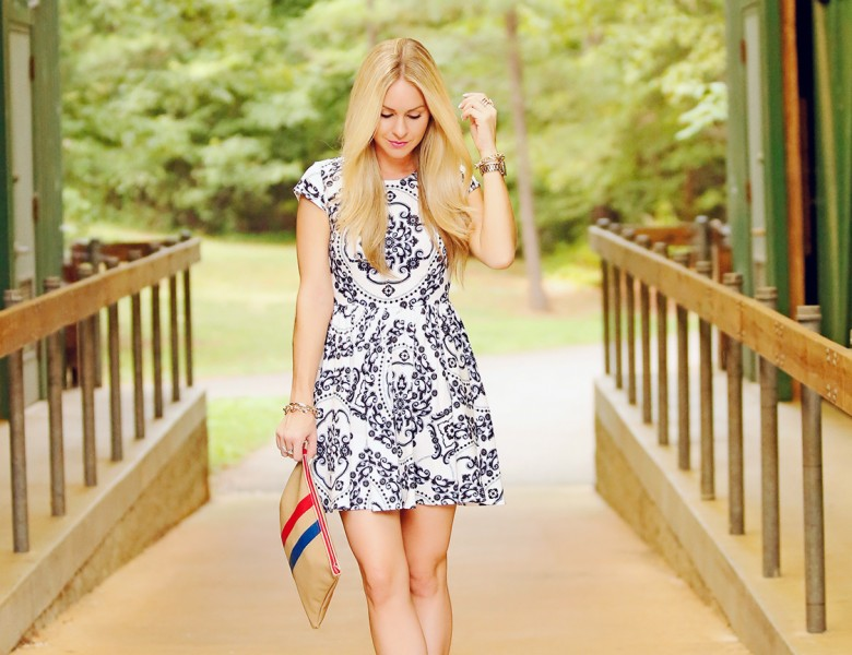 Royal Luxe Ivory Print Dress This Royal Luxe Ivory Print