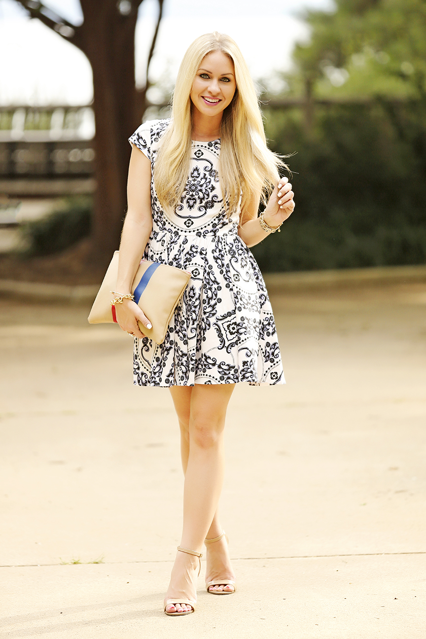Royal Luxe Ivory Print Dress Lulus Royal Luxe Dress