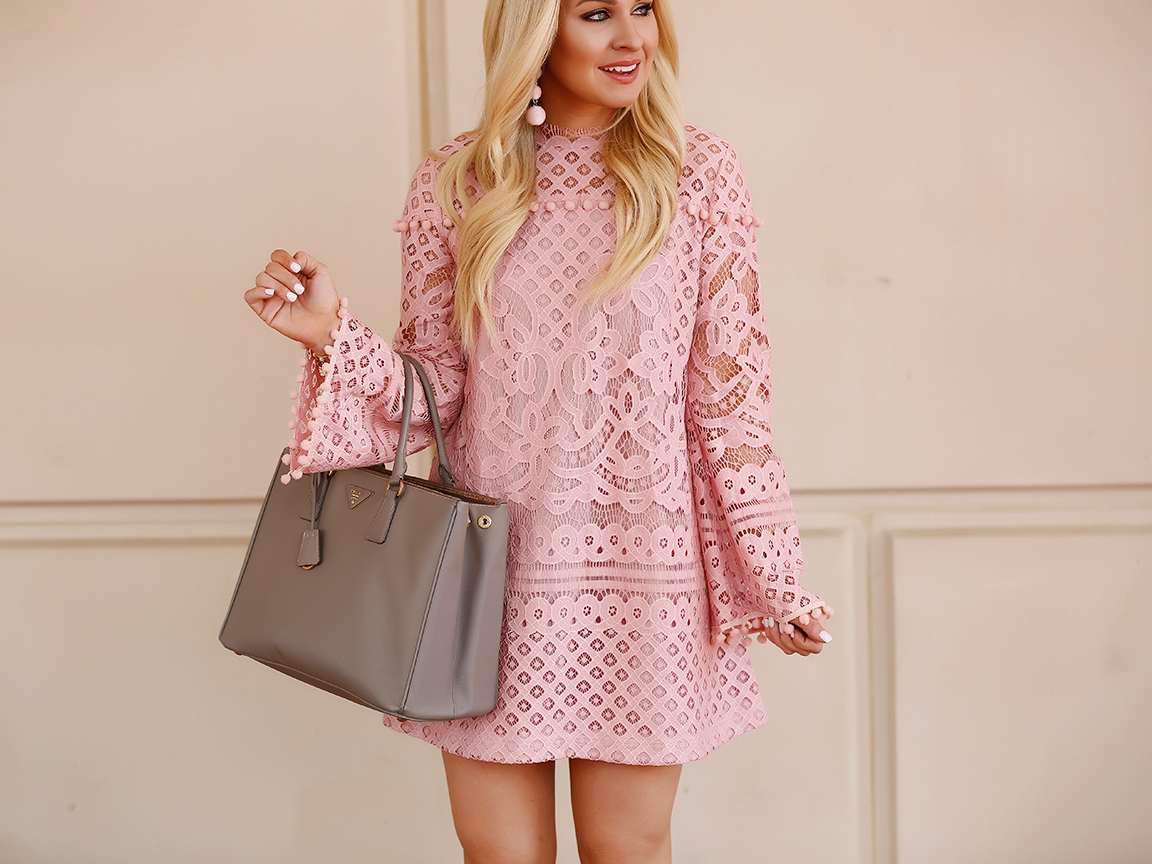 b4e0c92bb0 Pink Lace Dress + How to Shop SheIn - Cort In Session