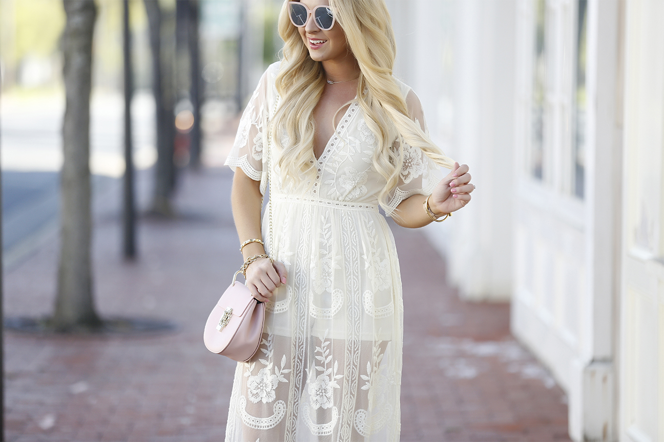 9a195f9a59db Lace Overlay Romper - Cort In Session