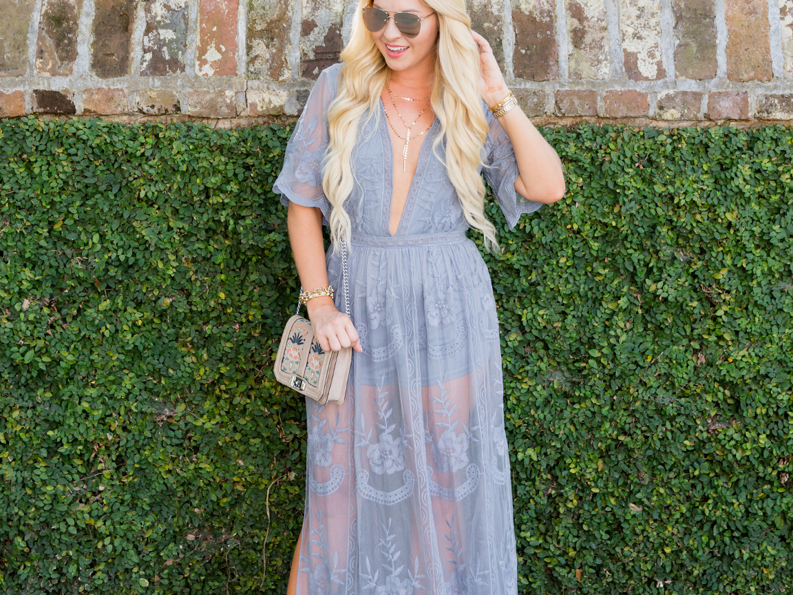 893136e4baa Lace Overlay Maxi Romper - Cort In Session